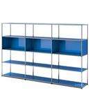 USM Haller Wohnzimmer Regal XL, Enzianblau RAL 5010