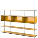 USM Haller Wohnzimmer Regal XL, Goldgelb RAL 1004