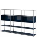 USM Haller Wohnzimmer Regal XL, Stahlblau RAL 5011
