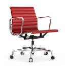 Aluminium Chair EA 117, Verchromt, Leder, Rot
