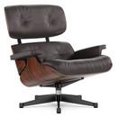 Lounge Chair, Santos Palisander, Leder Premium F chocolate, 89 cm, Aluminium poliert, Seiten schwarz