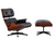 Vitra - Lounge Chair & Ottoman - Limited Edition Mahagoni