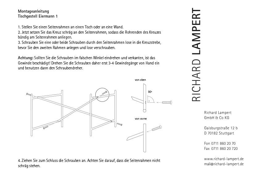 richard lampert eiermann tisch von egon eiermann. Black Bedroom Furniture Sets. Home Design Ideas