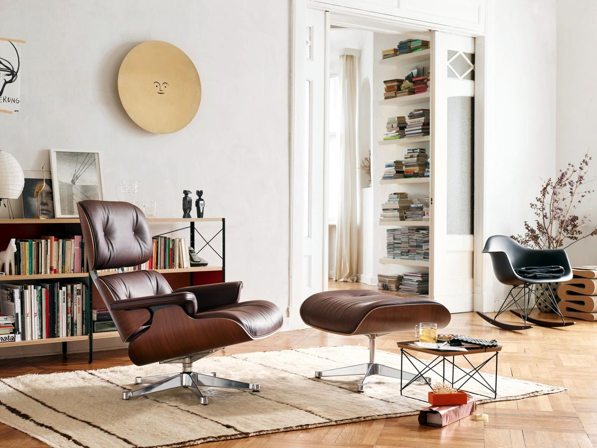 Eames Lounge Chair Living Room eames lounge chair - vitra designer furniture from smow