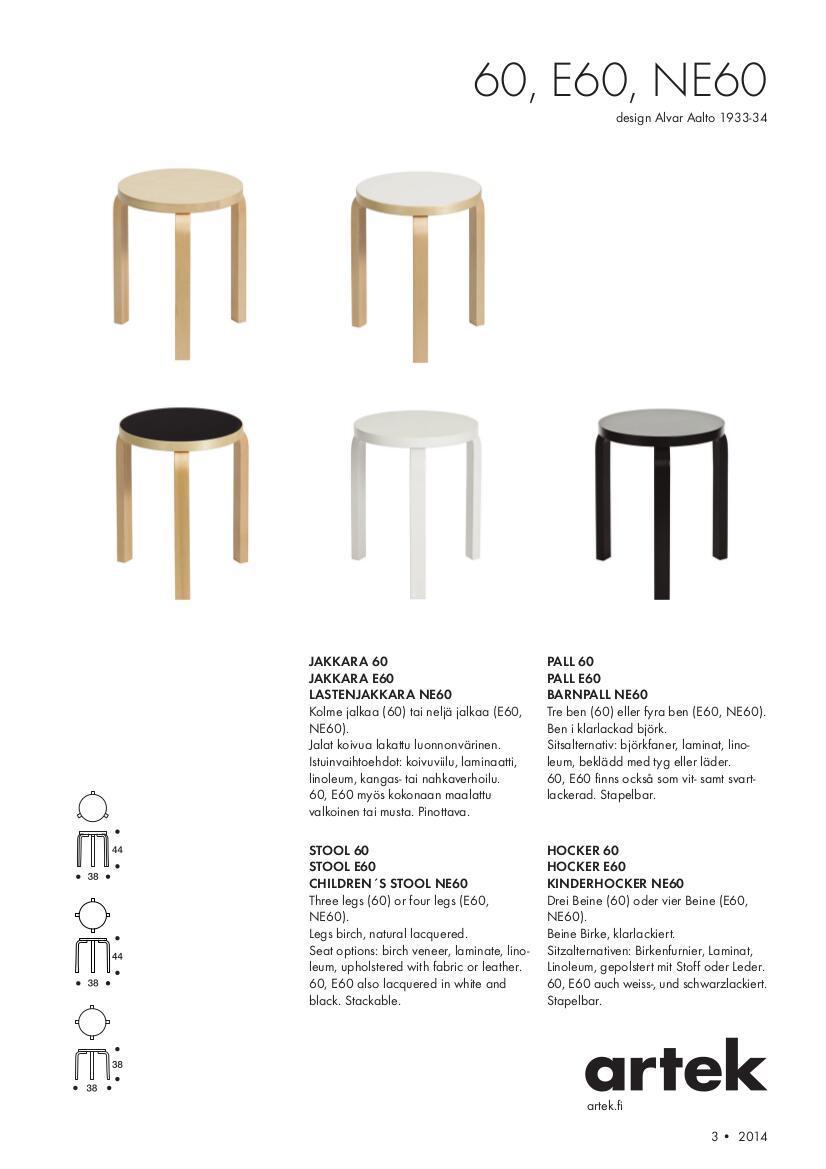 Artek Stool 60 By Alvar Aalto 1933 Designer Furniture