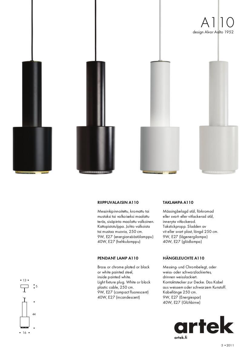 Artek products lighting pendant light a338 - Details