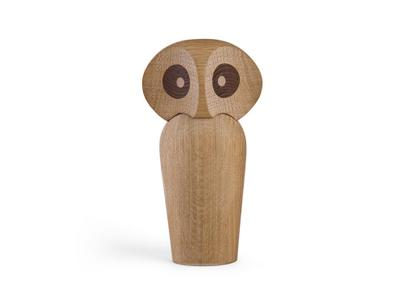 Owl Groß (H 17 cm)|Eiche natur