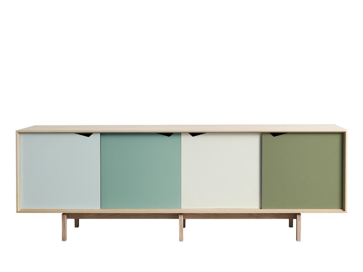 sideboard eiche grau wohnwand mit sideboard nelsoneiche eiche grau und beleuchtung forte mbel. Black Bedroom Furniture Sets. Home Design Ideas