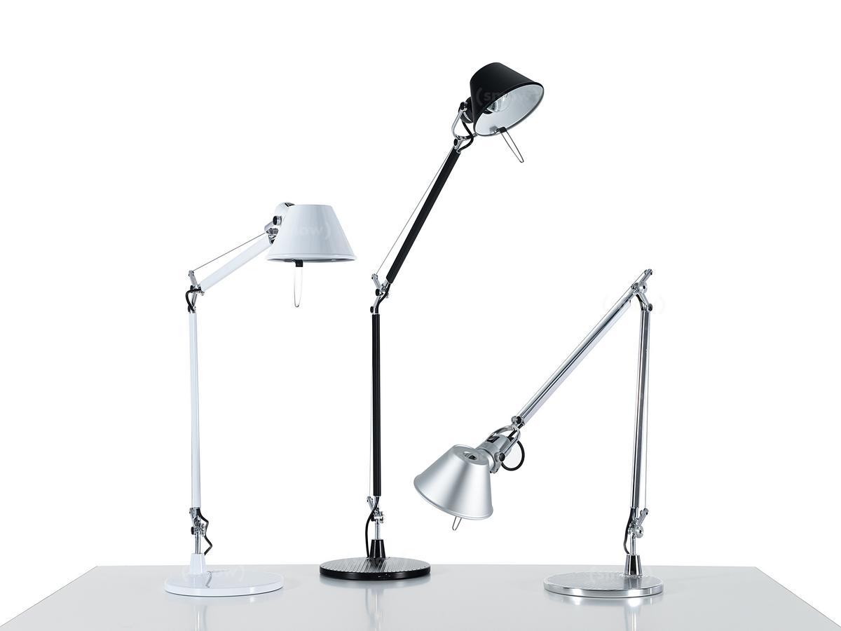 artemide tolomeo tavolo aluminium mit usm haltezapfen f r usm haller tischbein halogenlampe. Black Bedroom Furniture Sets. Home Design Ideas