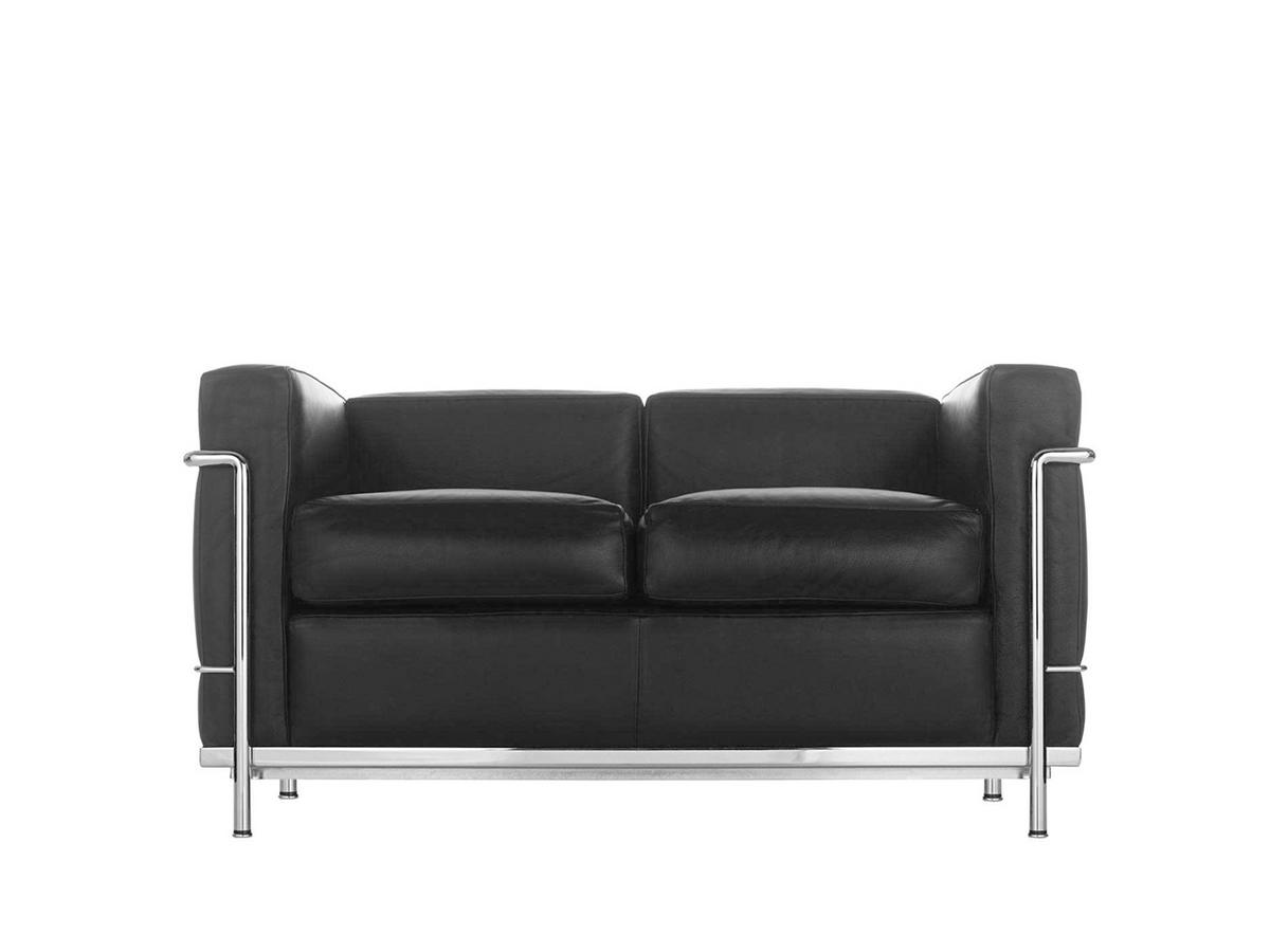 cassina lc2 sofa von le corbusier pierre jeanneret charlotte perriand 1928 designerm bel. Black Bedroom Furniture Sets. Home Design Ideas