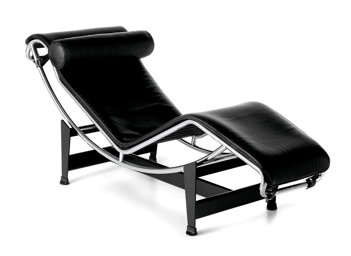 Original eames lounge chair - Cassina Lc4 Chaiselongue Verchromt Leder Schwarz Von Le