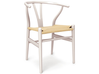 CH24 Wishbone Chair Buche blassrosa lackiert (Limited Edition)|Geflecht natur