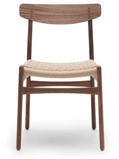 CH23 Dining Chair Nussbaum geölt Geflecht natur