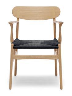 CH26 Dining Chair Eiche geseift|Schwarz