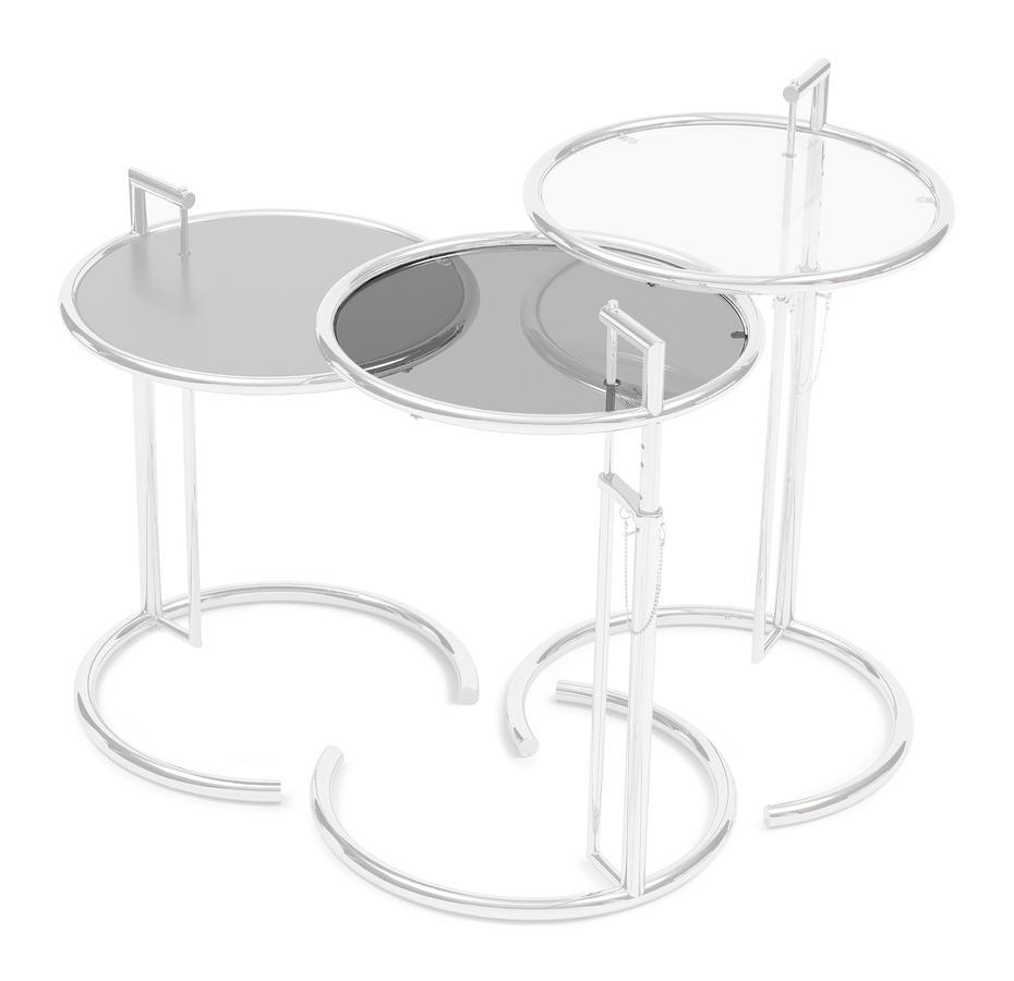 adjustable table e 1027 ersatzplatte parsolglas grau