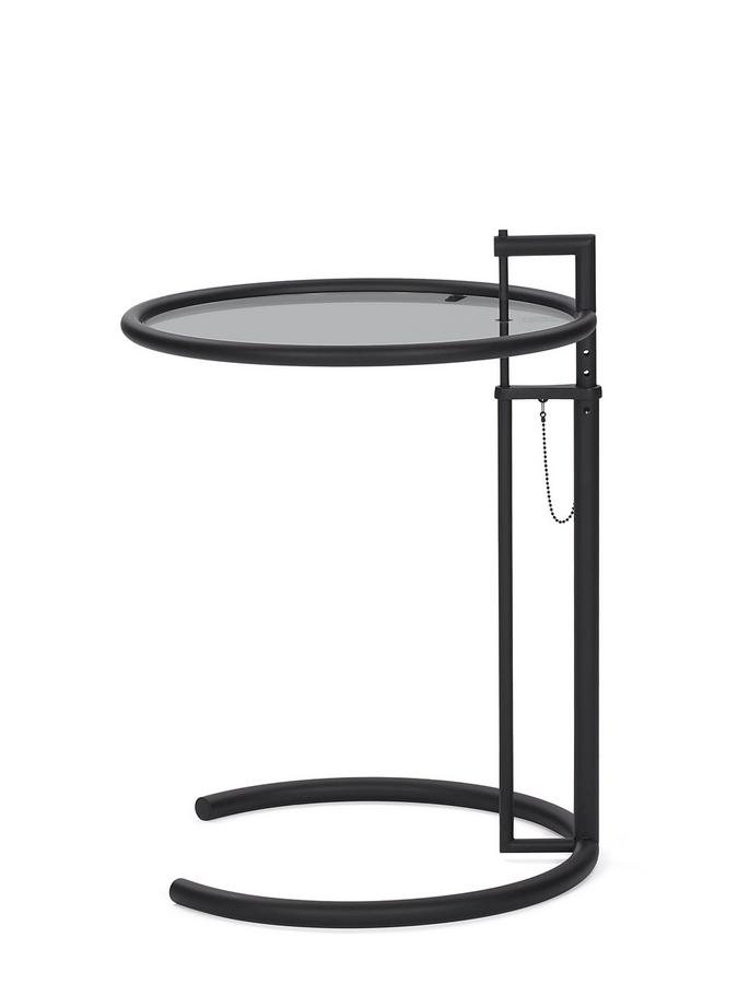 adjustable table e 1027 black version parsolglas grau
