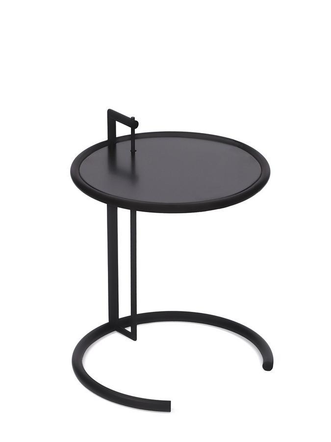 adjustable table e 1027 black version metallplatte schwarz