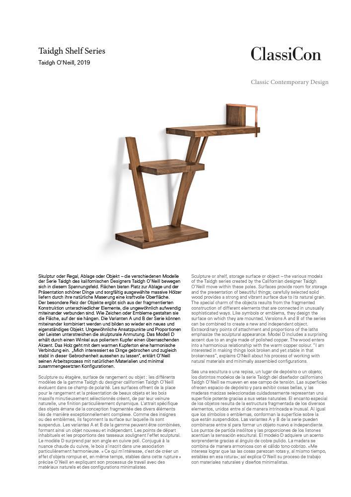 ClassiCon Taidgh Shelf C by Taidgh O'Neill, 2019 - Designer