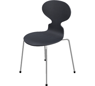 fritz hansen die ameise 3101 von arne jacobsen 1952 designerm bel von. Black Bedroom Furniture Sets. Home Design Ideas