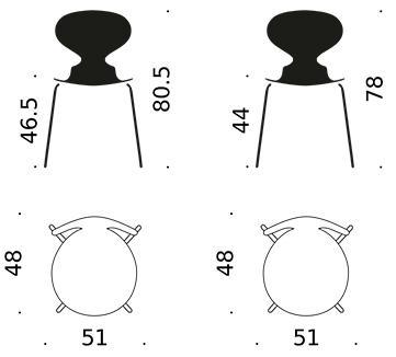 fritz hansen die ameise 3101 von arne jacobsen 1952. Black Bedroom Furniture Sets. Home Design Ideas
