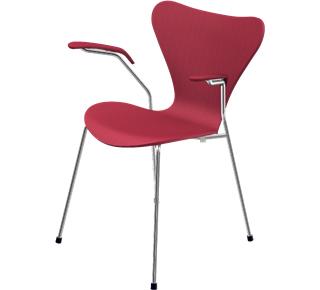 Serie 7 Armlehnstuhl 3207 46 cm|Gefärbte Esche|Opium red