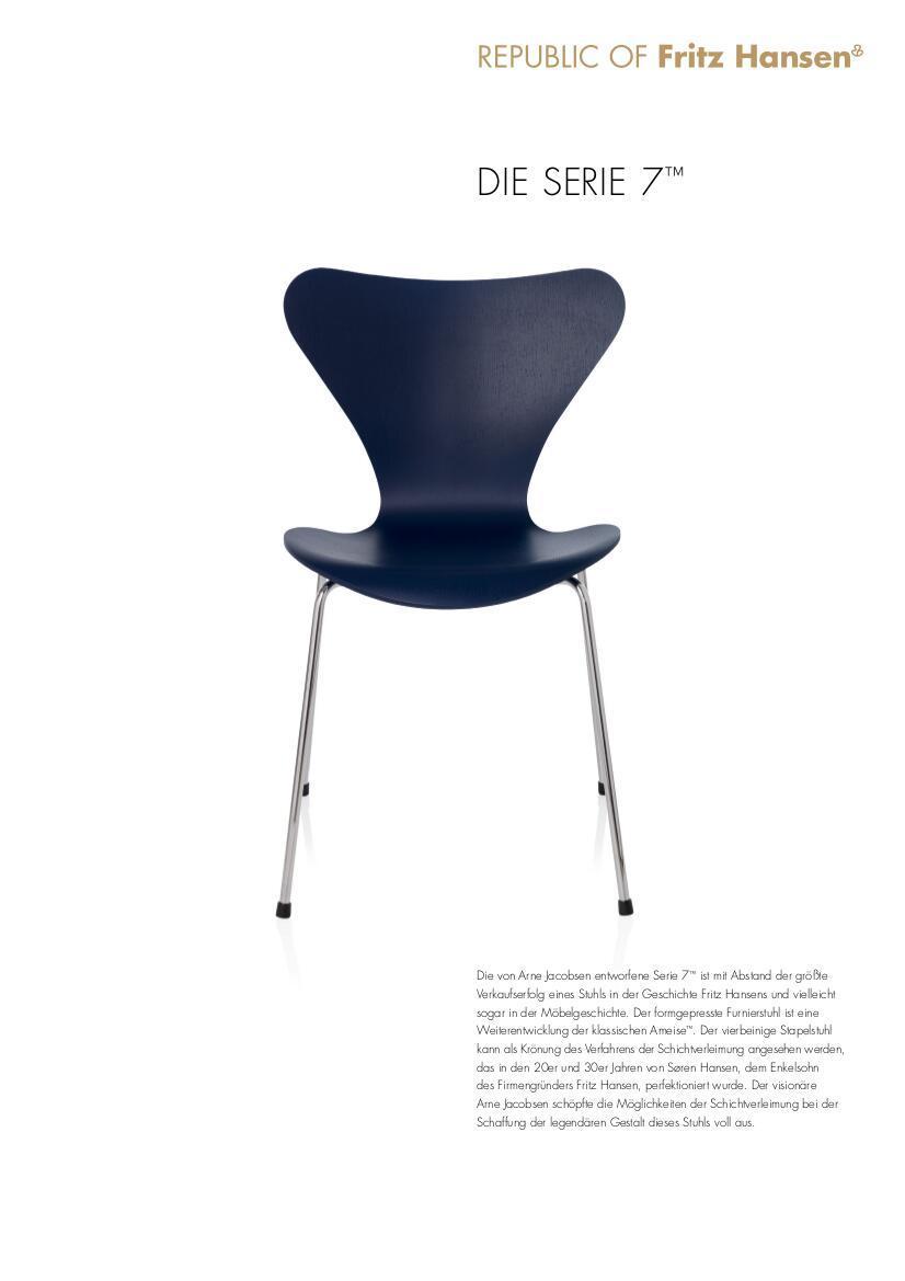 fritz hansen serie 7 armlehnstuhl 3207 von arne jacobsen. Black Bedroom Furniture Sets. Home Design Ideas