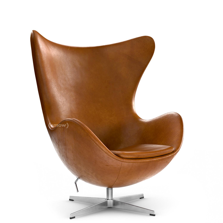 Uberlegen Egg Chair Elegance Leder|Walnut|Ohne Fußhocker