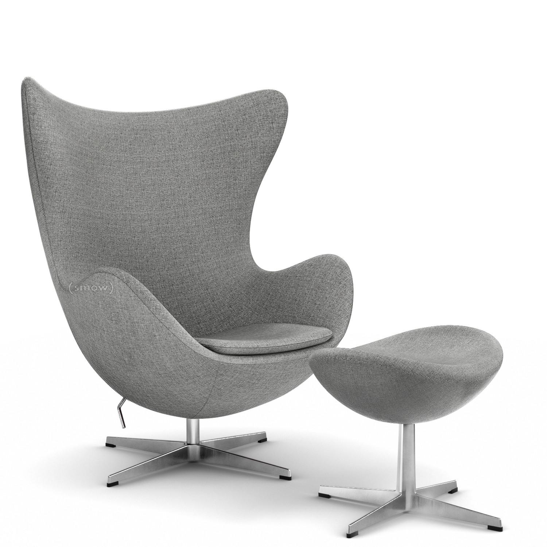 Fritz Hansen Egg Chair Hallingdal 65 130 Grey Mit Fußhocker Von
