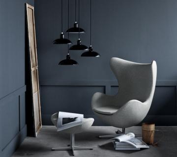 Fritz Hansen Egg Chair Hallingdal 65 Red 674 Ohne Fußhocker Von