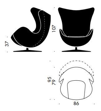 fritz hansen egg chair von arne jacobsen 1958. Black Bedroom Furniture Sets. Home Design Ideas