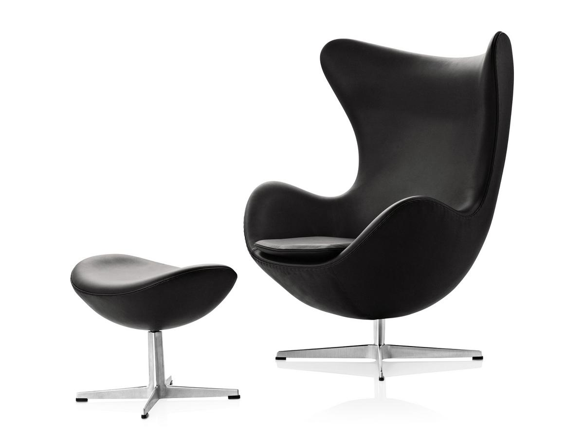 fritz hansen egg chair von arne jacobsen 1958 designerm bel von. Black Bedroom Furniture Sets. Home Design Ideas