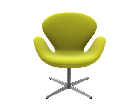 Fritz Hansen Swan Chair 40 Cm Divina Melange Yellow Von Arne