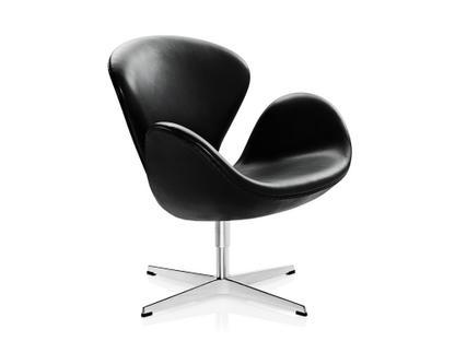 Swan Chair Sonderhöhe 48 cm|Leder Grace|Black