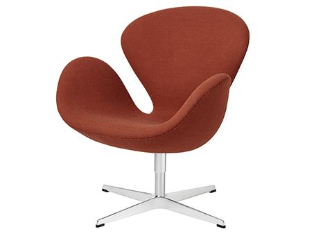 Fritz Hansen Swan Chair 40 Cm Fritz Hansen Colours Orange Von