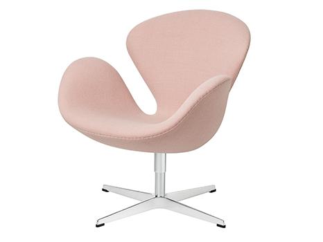 Fritz Hansen Swan Chair 40 Cm Fritz Hansen Colours Rosa Von Arne