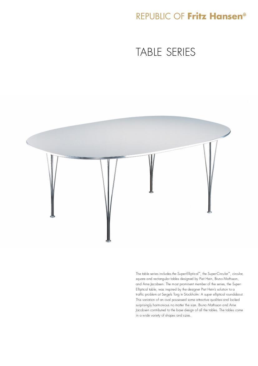 fritz hansen tisch analog table fritz hansen quick ship. Black Bedroom Furniture Sets. Home Design Ideas