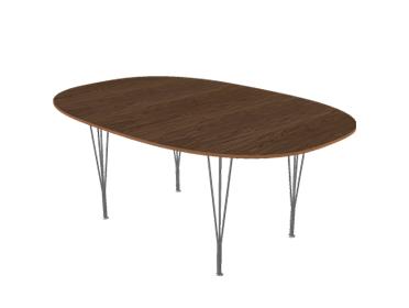 fritz hansen piet hein tisch von piet hein bruno mathsson. Black Bedroom Furniture Sets. Home Design Ideas