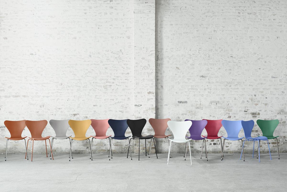 fritz hansen serie 7 stuhl 3107 monochrom von arne. Black Bedroom Furniture Sets. Home Design Ideas