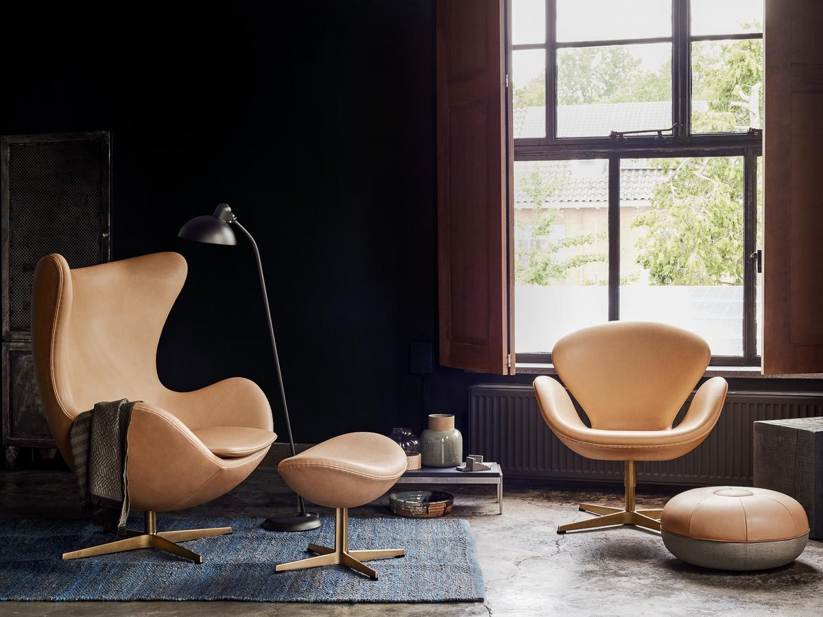 fritz hansen egg chair limited edition von arne jacobsen 1958 designerm bel von. Black Bedroom Furniture Sets. Home Design Ideas