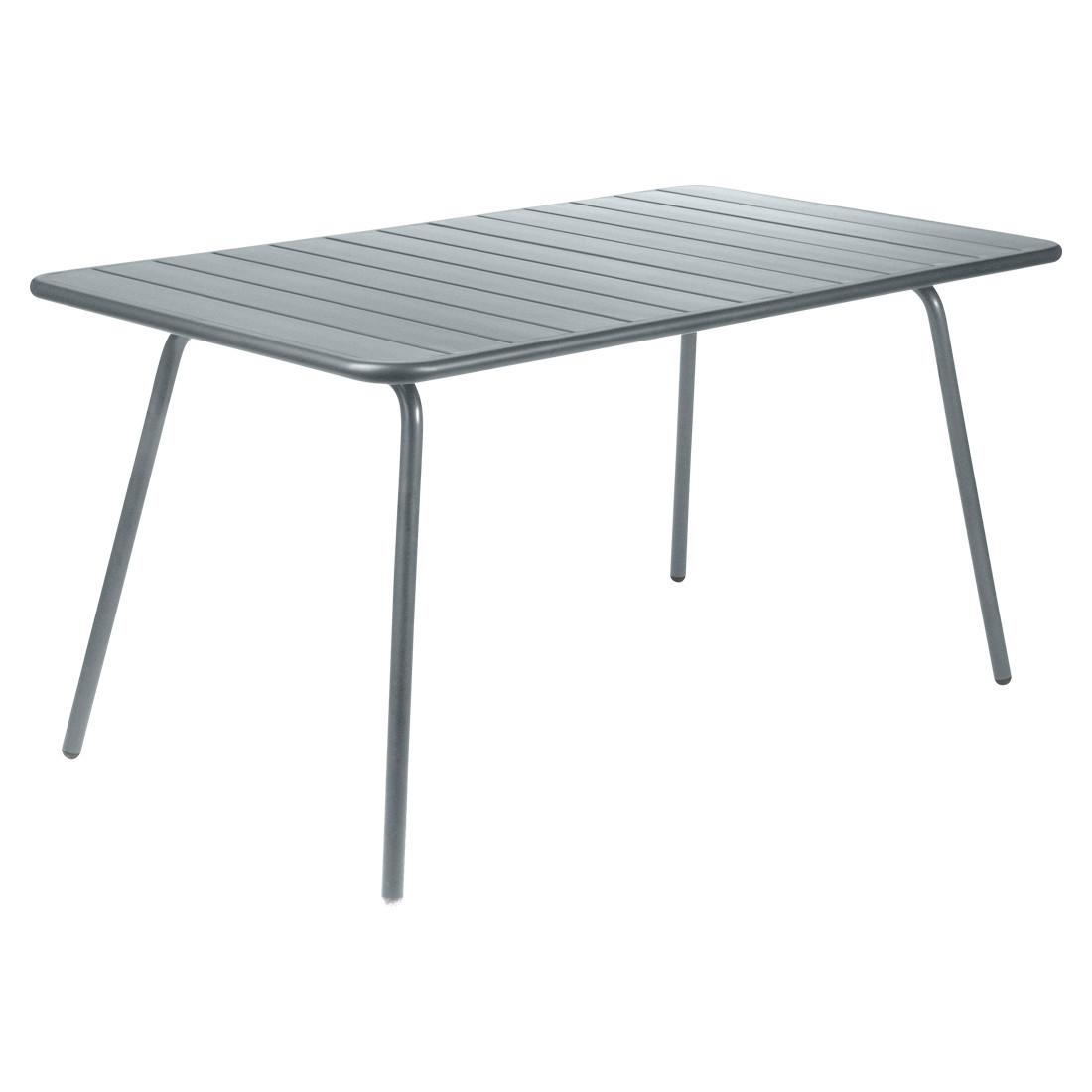 Fermob Luxembourg Tisch 143 X 80 Cm Gewittergrau Von Frederic