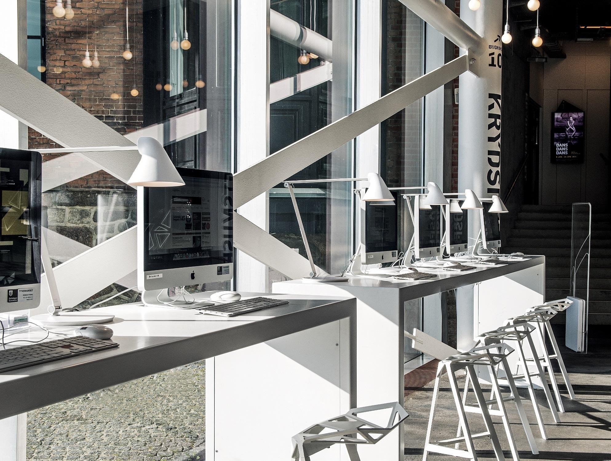Lichtplanung Arbeitsplatz Fensterfront