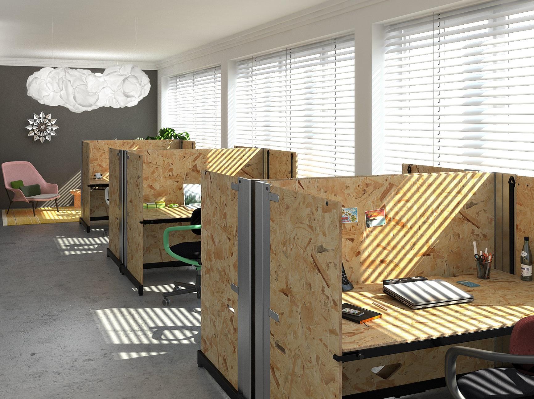 Moderne Büros Großraumbüro