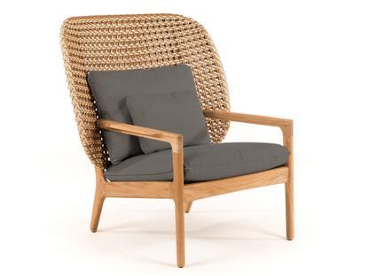 Kay Highback Lounge Chair Harvest|Fife Platinum|Ohne Ottoman
