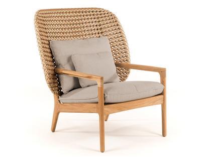 Kay Highback Lounge Chair Harvest|Fife Rainy Grey|Ohne Ottoman