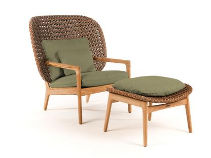 Kay Highback Lounge Chair Brindle|Fife Lichen|Mit Ottoman