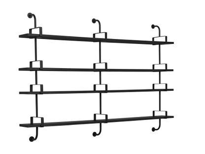Démon Wandregal B 215 x H 140 cm Esche schwarz gebeizt