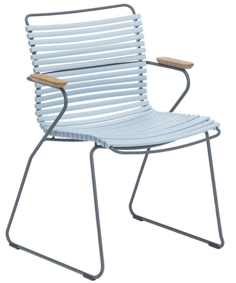 Houe Click Stuhl, Mit Armlehnen, Dusty light blue von Henrik