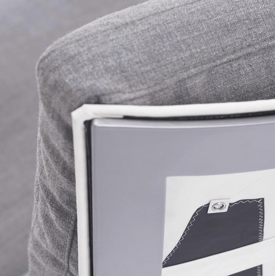 h dneb spinnaker sessel schwarz canvas used sail leder farbe schwarz von linda steen and lena. Black Bedroom Furniture Sets. Home Design Ideas