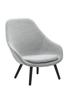 About A Lounge Chair High AAL 92 Steelcut Trio 133 - hellgrau|Eiche schwarz gebeizt|Mit Sitzkissen