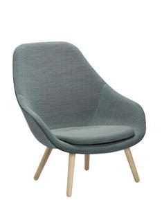 About A Lounge Chair High AAL 92 Steelcut Trio 815 - mintgrün Eiche geseift Mit Sitzkissen